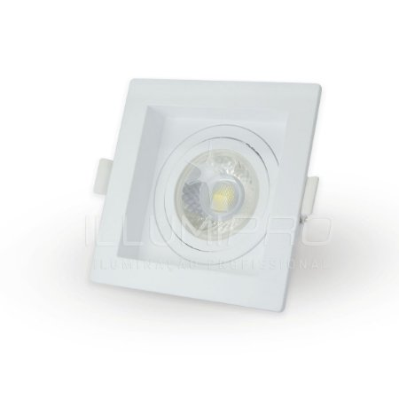 Spot Embutido Sem Lâmpada MR16 Quadrado Recuado Save Energy