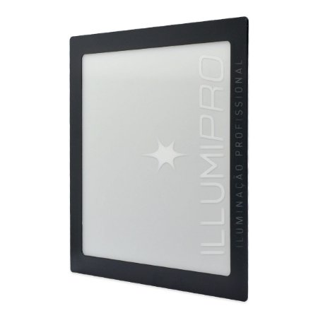 Luminaria Plafon Led 3w Quadrado Embutir Quente Preto