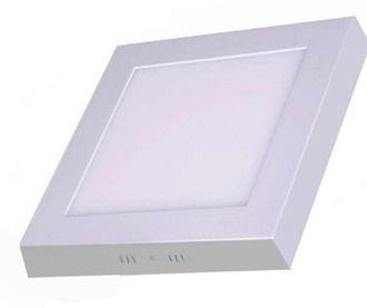 Luminaria Painel Led 12w Quadrado Sobrepor Branco Quente