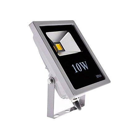 Refletor Holofote Led Branco Quente 10w Bivolt Resistente Agua