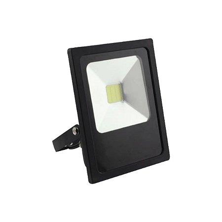 Refletor Holofote Led Luz Branca 20w Bivolt Resistente Agua
