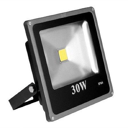 Refletor Led 30w Luz Amarela