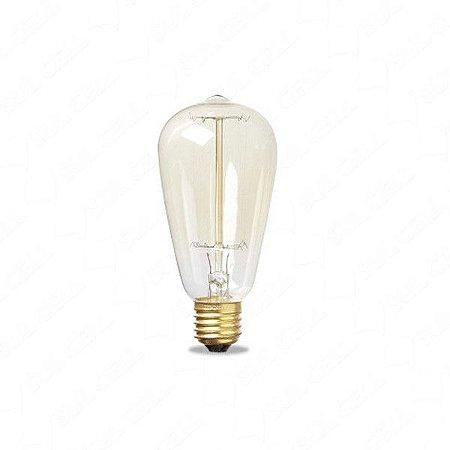 Lampada Filamento De Carbono 40w 110v Branco Quente BCF-ST64 CTB