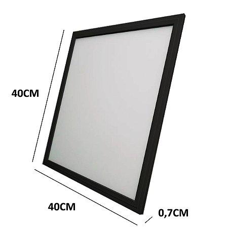 Luminária Painel Led 36w 40x40 Embutir Luz Branca Preto