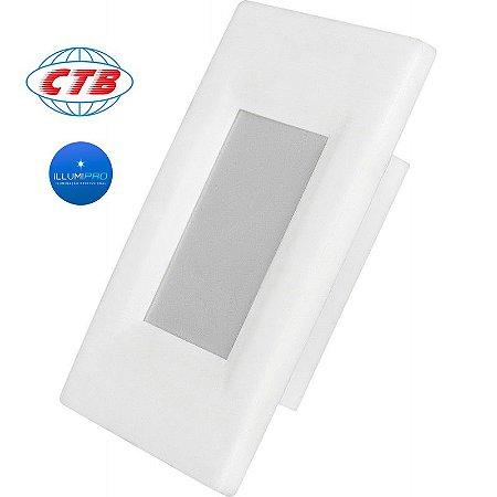 Balizador Parede Embutir Caixa 4x2 Escada Luminária Bivolt