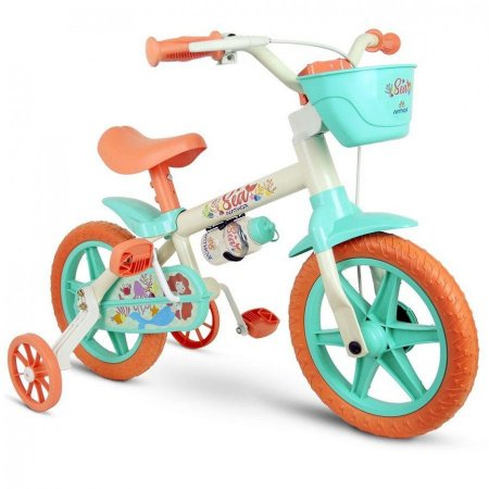 Bicicleta Infantil Menina Aro 12 Nathor Sea