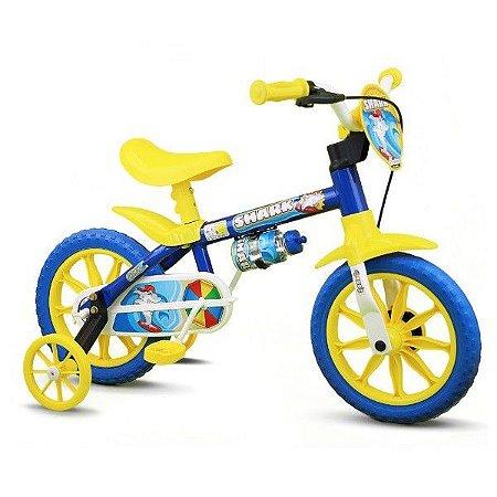 Bicicleta Infantil Menino Aro 12 Shark Nathor