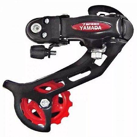 Cambio Traseiro Yamada Bike Bicicleta Mtb 6/7/8v Index Preto
