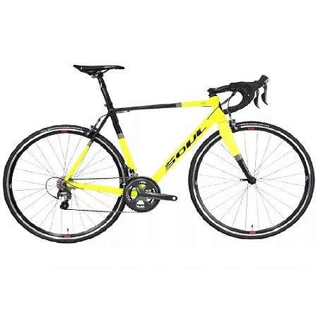 Bicicleta Speed Soul 3r1 Shimano Tiagra 10v Amarela/Preta
