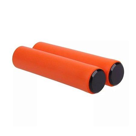 Manopla Punho High One Silicone Laranja 135mm Mtb Xc - Par
