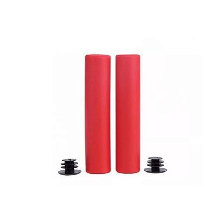 Manopla Punho High One Silicone Vermelho 135mm Mtb Xc - Par