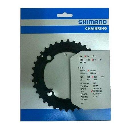 Coroa Engrenagem Shimano Deore LX FC-M665 36 Dentes BCD 104