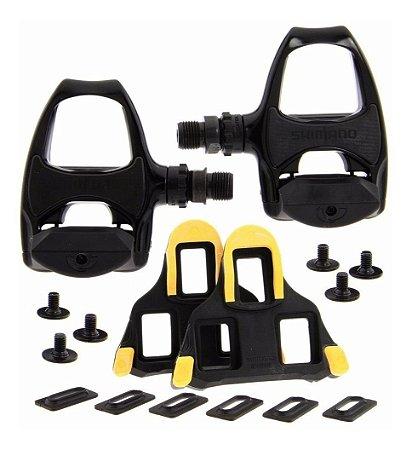 Pedal Shimano PD-R540 Speed Spd-sl Com Taquinhos Completo - Par