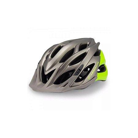 Capacete Ciclismo Absolute Wild Com Led Cinza Verde Fosco Tam 58-61cm