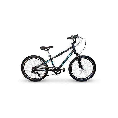 Bicicleta Infantil Nathor Aro 24 Apollo Preta 6v Suspensão