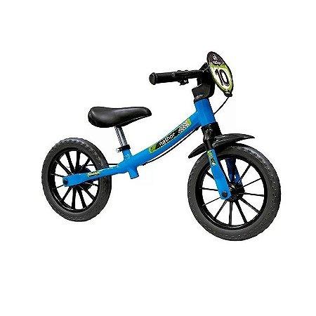 Bicicleta Balance Pre Bike Sem Pedal Infantil Menino Nathor Azul