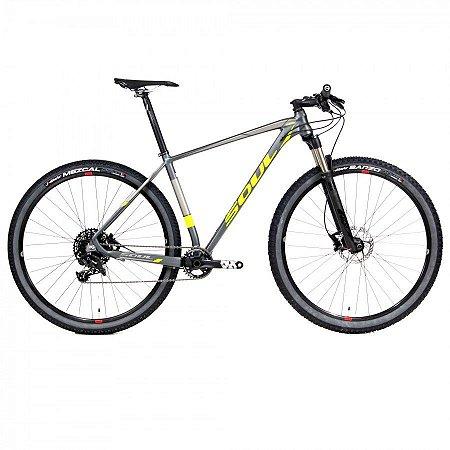 Bicicleta Soul SL729 Aro 29 NX Eagle 1X12 Grafite Amarelo