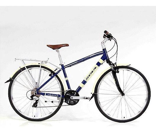 Bicicleta Soul Copenhague Retro 700c Azul Bege