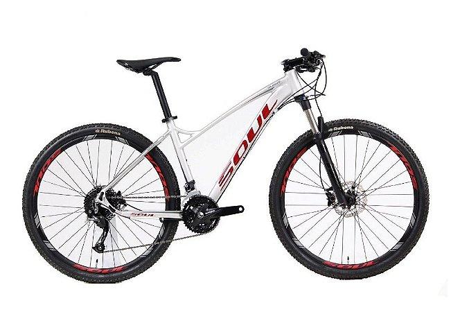 Bicicleta Soul Sl 227f 27,5 Prata Shimano 27v F. Hidraulico