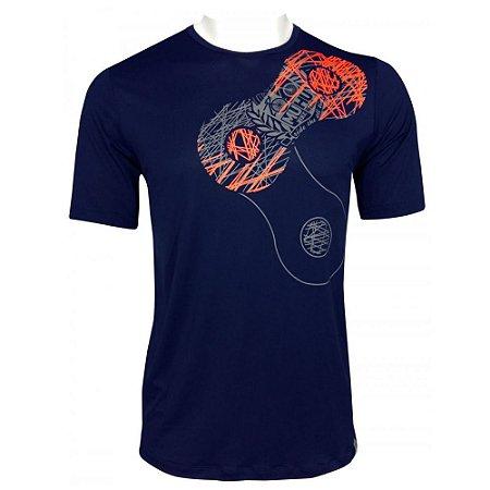 Camisa Muhu Link Thermal Dry Masculino Azul Marinho
