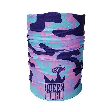 Bandana Tubular Muhu Camuflada Queen Ciclismo Bike Proteção