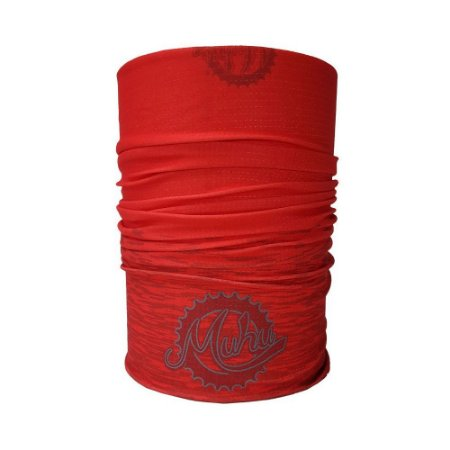 Bandana Tubular Muhu Solid Color Red Ciclismo Bike Proteção