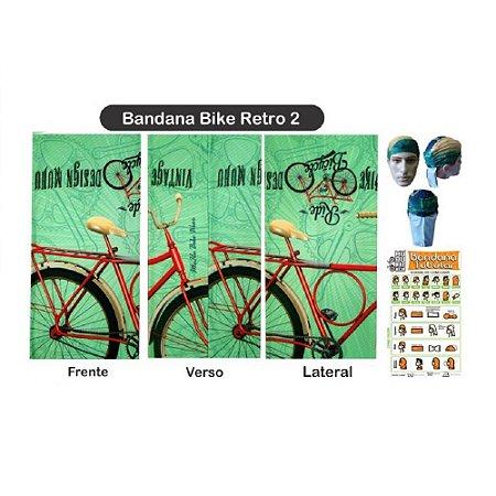 Bandana Tubular Muhu Bike Retrô Verde Ciclismo Mtb Proteção