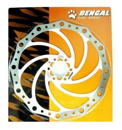 Disco De Freio Bengal 203mm Ondulado 6 Furos Dh Branco - Un