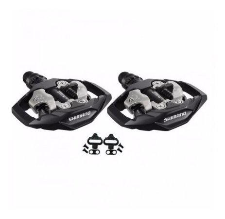 Pedal Shimano PD-M530 Clip Plataforma MTB Preto Com Tacos - Par