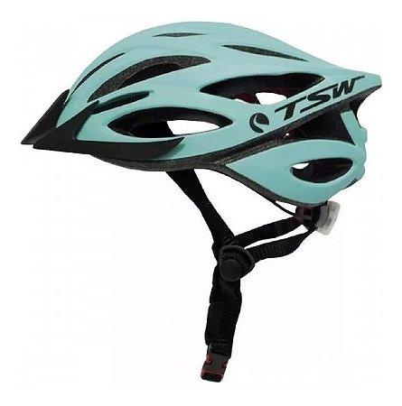 Capacete Tsw Plus Vista Light Verde Água Mtb Speed Regulagem