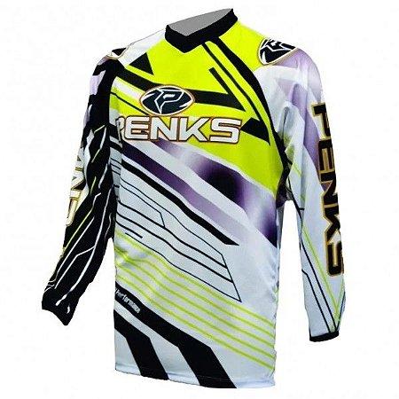 Camisa Penks Start Ml Amarela Ciclismo Mtb Dh Motocross