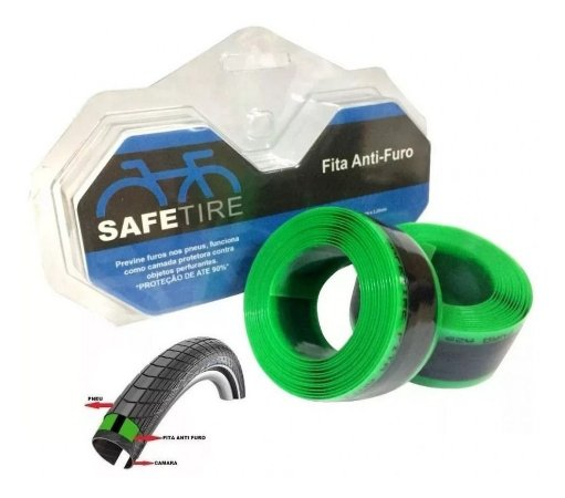 Fita Protetora Anti-furo Safetire 2.3m 35mm Para Aro 29 Par