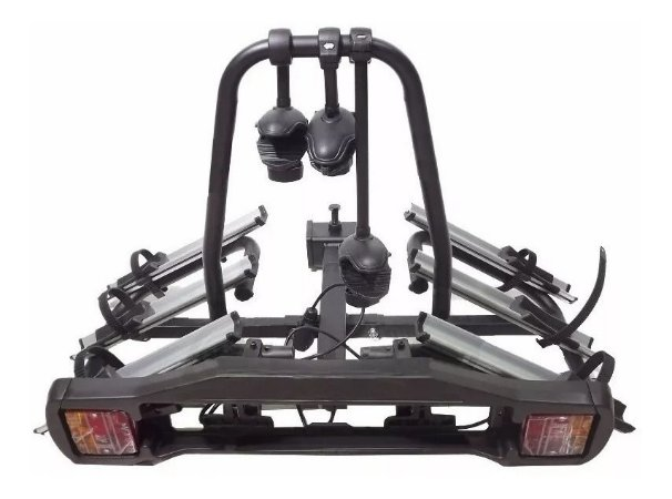 Transbike Rack Para Engate 3 Bikes Placa Sinalizador Legal