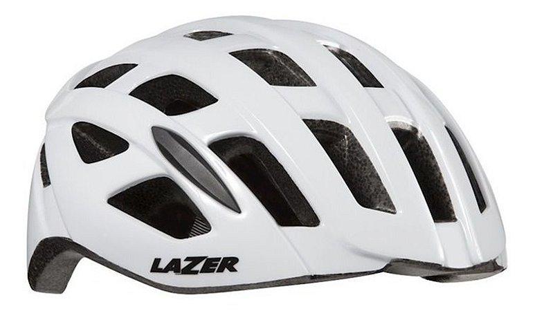Capacete Lazer Tonic Branco Ciclismo Mtb Xc Speed Bicicleta
