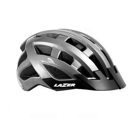 Capacete Lazer Compact Cinza Titânio Mtb Ciclismo Tamanho Único 54-61cm