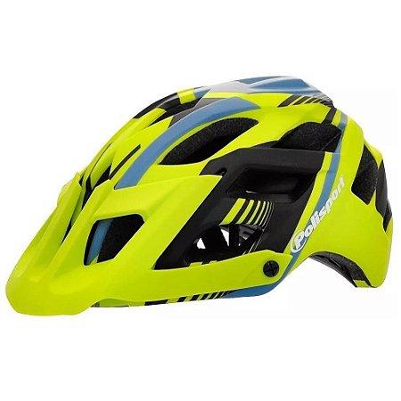 Capacete Ciclismo Polisport Enduro E3 Verde Fluor Fosco Mtb