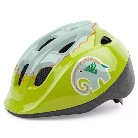 Capacete Polisport Infantil Kid Phanty Elefante Verde Bicicleta Skate Patins Tam PP (46-53cm)