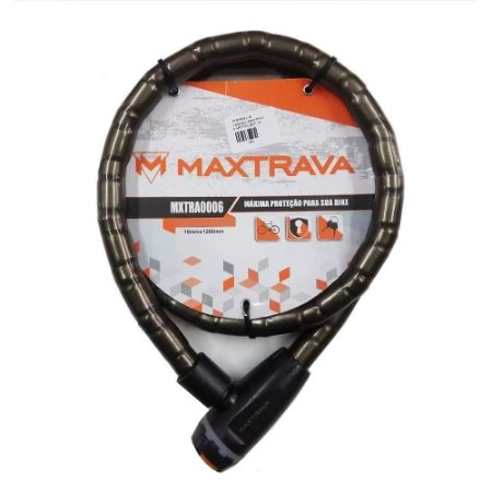 Cadeado Articulado MaxTrava MXTRA0006 18x1200mm Bike Moto