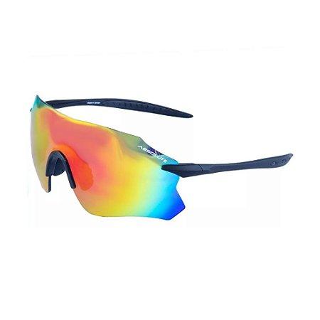 Óculos Ciclismo Absolute Prime SL Preto Fosco UV400 Sem Armação Bike Mtb