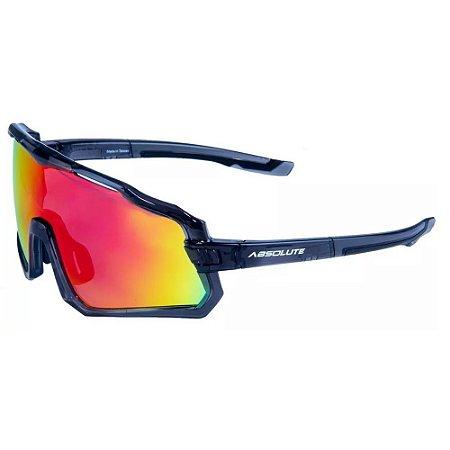 Óculos Ciclismo Absolute Wild Preto Lente Vermelha Espelhada UV400 Mtb