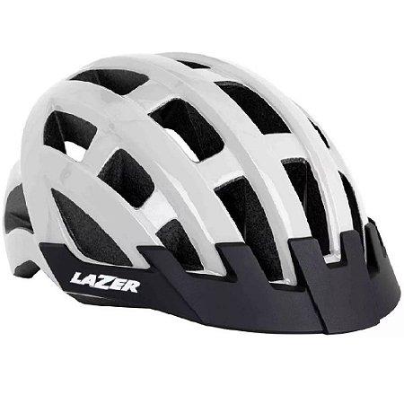 Capacete Shimano Lazer Compact Road Branco Mtb Bicicleta