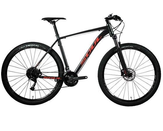Bicicleta 29 Soul SL229 Shimano Altus 27v  Grafite Vermelho