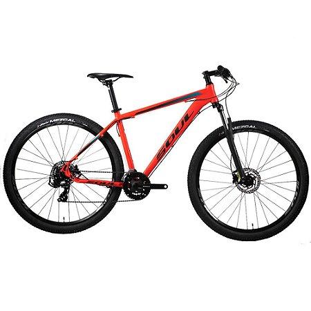 Bicicleta Soul SL129 MTB Aro 29 21v Freio Hidraulico Vermelha Tam L
