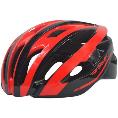 Capacete Brave S-352 Vermelho Preto Inmold Ciclismo Bike