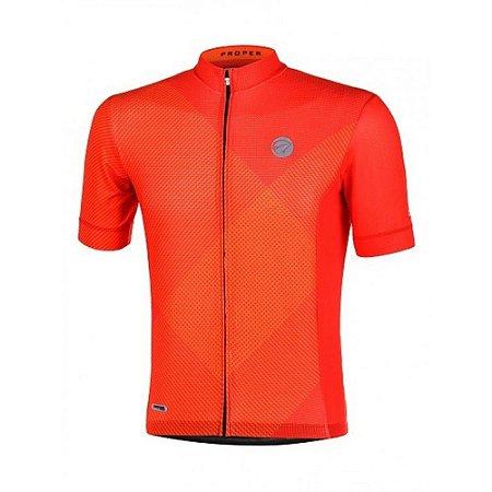 Camisa Ciclismo Mauro Ribeiro Proper Masculina Laranja