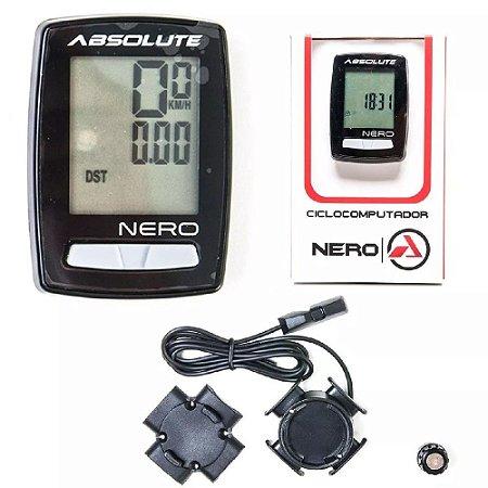 Ciclocomputador Velocimetro Bike Absolute Nero 10 Funções