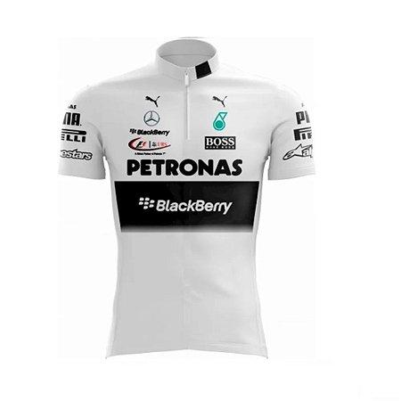 Camisa Masculina Ciclismo Petronas Black Berry Speed MTB RVB