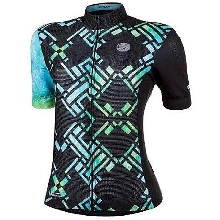 Camisa Mauro Ribeiro Feminina MC Fem Draw Ciclismo Verde