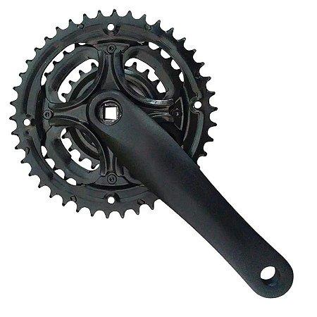 Pedivela Sugino Aluminio Bike Mtb Triplo 24/34/42 Dentes 170mm