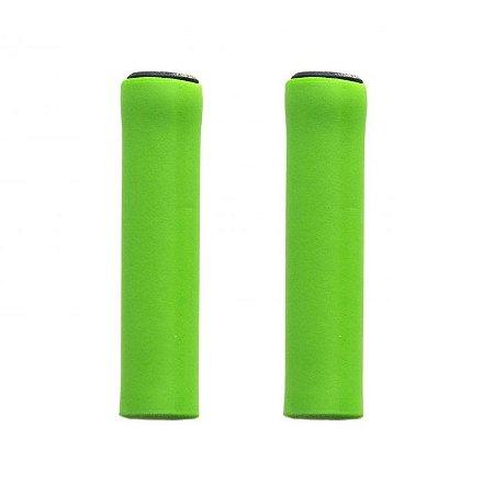 Manopla Tsw Light Silicone Verde Mtb Bicicleta Leve 32gr - Par